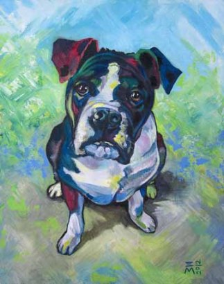 """SOLD: """"the Dog"""" Acrylic"""