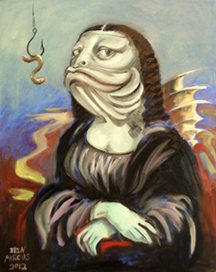 "For Sale: ""Mona As A Fish"" - oil - 16x20"""