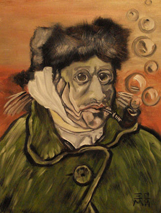 """For sale: Oil - """"Van Gogh Pastiche"""" 11x14"""