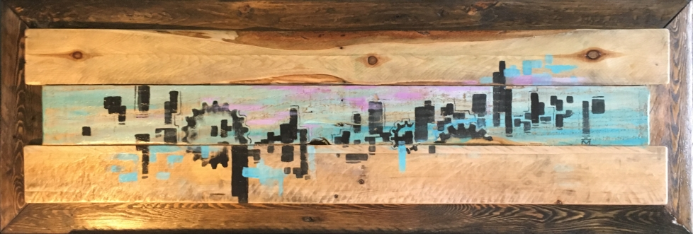 SOLD: Acrylic on Upcycled Wood