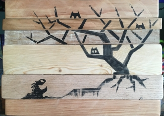Creatures on Upcycled wood